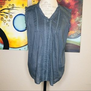 Coverse XL One Star Gray Blue Textured Tank Top